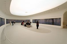 Monet at the Musee de l'Orangerie.  It's usually not this crowded.