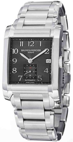 a1672bea661 New Baume   Mercier Hampton 10048 Mens Timepiece Stainless Steel Case and  Bracelet Automatic Swiss Made Movement Free Overnight Shipping