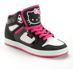 Vans Allred Hello Kitty High-Top Skate Shoes - Women ($65) ❤ liked on Polyvore