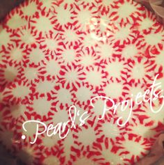 Peppermint Plates: a pretty presentation plate for cookies, fudge and other Christmas goodies for friends and neighbors :)