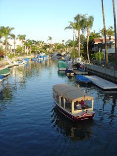 Rent a Duffy electric boat and cruise around Naples canal in Long Beach, CA