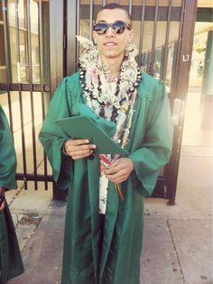 He looks good on graduation day