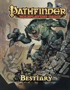 Pathfinder Roleplaying Game Bestiary. Contains 350 monsters and their variants, rules for creating my very own monsters, stat tables and animal companions! Really cool, would love to have the hardcover book. $40
