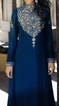 Embroidered neckline and beautiful blue shade  @Af's 12/3/13
