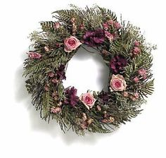 "RUSTIC ROSE 18"" WREATH Hydrangea, Fern, PINK ROSES by Flora Pacifica. Save 43 Off!. $67.99. Shipped Insured. About 18"" diameter. Hand Crafted Quality. Brand new!. A base of winterbud and dried fern, richly decorated with latifolia, wild roses, hydrangea and three freeze-dried roses. About 18"" across. Our family owned and operated wreath artists are located on the Oregon Coast and grow grow a wide variety of cut flowers and herbs, grown primarily for our beautiful wreaths and..."