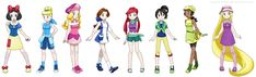 Disney Princesses as Pokemon trainers. Almost as crazy as a Doctor Who character in My Little Pony (or is it Ponies?).