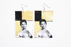 """""""Love You Lena Lena Horne earrings""""  #kltart     #lenahorne #vintage #1940s #retro #earrings"""