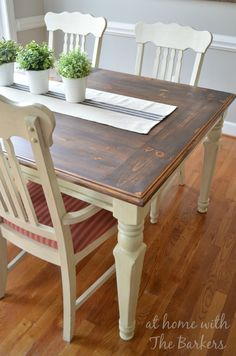 Farmhouse table Makeover using Minwax stain