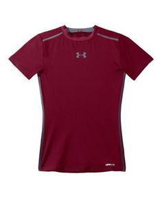 Under Armour Big Boys' HeatGear® Sonic Fitted Short Sleeve Youth Medium Maroon Under Armour http://www.amazon.com/dp/B00AHDR7YC/ref=cm_sw_r_pi_dp_tt0aub1X11094