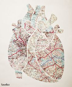 i love the idea of using maps as a medium for art projects