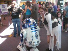 Steampunk Leia with R2D2. 2013