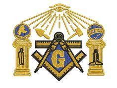 Masonic Compass Freemason symbols pattern by MountainEmbDesigns