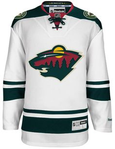 Minnesota Wild Official Away Reebok Premier Replica Adult NHL Hockey Jersey  CoolHockey 87f45f75b
