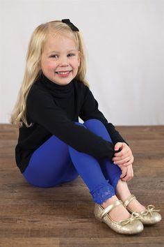 Lace-Trimmed Leggings   13 Colors