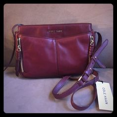 "NWT! Cole Haan "" Windsor Red Crossbody! NWT! Cole Haan "" Windsor Red Crossbody! Comes with new dust bag ! No trades ..Measurements: 9"" L x 7"" H x 2.5"" W Adjustable Shoulder strap: 24"" drop Cole Haan Bags Crossbody Bags"