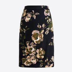 470b68d39 Printed pencil skirt in sateen dot - Women's Skirts | J.Crew