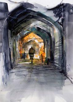 Bazaar of Isfahan  Urban Sketchers sketch