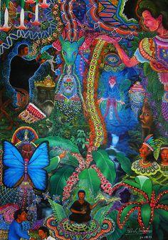 An ayahuasca vision by Pablo César Amaringo Shuna