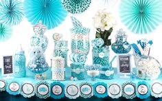 Turquoise Baby Shower | Time for the Holidays