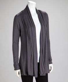Take a look at this Anthracite Open Cardigan by Kische on #zulily today!