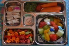 Food, Family, Fun.: Colourful fruit salad packed in a @Planet Box rover