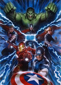 Incredible Hulk Avengers Assemble variant cover by Adi Granov * Marvel Comics Art, Avengers Comics, Marvel Heroes, Hulk Marvel, Spiderman, Marvel Avengers Assemble, The Avengers, Adi Granov, Comic Art