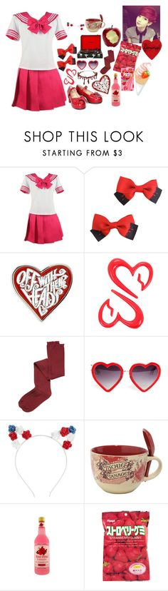 """""""sailor lolita<3"""" by allisjess ❤ liked on Polyvore featuring Hot Topic, Polaroid, Intimately Free People, Markus Lupfer, Topshop and sOUP"""