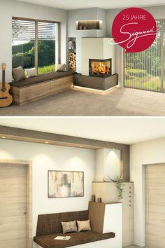 Salon Interior Design, Home Fireplace, Flat Ideas, Banquette, Modern Kitchen Design, Outdoor Furniture Sets, Decoration, Sweet Home, House Design