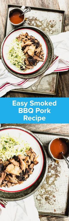 Easy Smoked BBQ Pork  Easy Smoked BBQ Pork Recipe |  StupidEasyPaleo.com  Perfect for warm-weather weekend dinners!  https://www.pinterest.com/pin/143341200623767257/