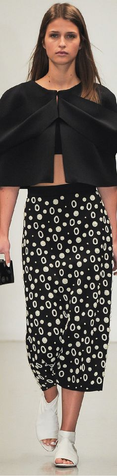 Osman Spring 2015 Ready-to-Wear (personally I'd go with a different top but the skirt is AWESOME)