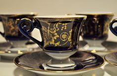 Echt-Scharffeuer-Kobalt-Demitasse-Cup-and-Saucer by decor4home2 on Etsy