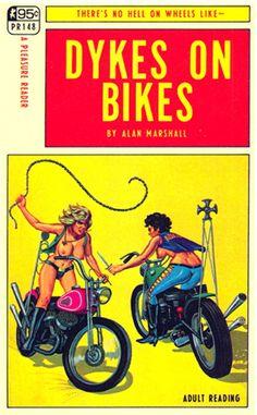 Kuvahaun tulos haulle pulp magazine dykes on bikes