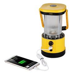 Excelvan@ Portable Outdoor Solar Camping LED Lantern Lamp -- 8LEDs 2.2W solar panel build-in Rechargeable 2*1800mah Lithium-ion Batteries 5V USB output For Cell Phone Charging Adjustable Brightness For Hiking Camping Emergencies Hurricanes Outages UK