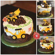 Bulldozer cake
