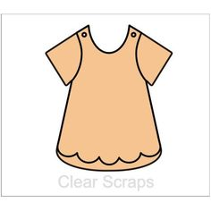 Clear Scraps - Chipboard Album - Girls Bib Dress Baby Girl Cards, Album Book, Hold Ups, Chipboard, Mini Albums, Girls, Scrapbook, Tops, Dresses