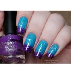 Purple & Blue Thermal Nail Polish Glitter Temperature Color Changing Nail