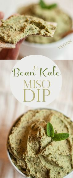 Produce On Parade - Bean & Kale Miso Dip - A quick and healthy dip for crackers, veggies, or to spread on a sandwiches. Nutritional powerhouse!