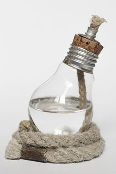 selfmade light bulb oil lamp ::by fanny oppler