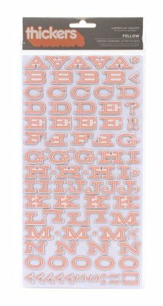 American Crafts Thickers Printed Chipboard Letter Stickers, Fellow Sherbert American Crafts,http://www.amazon.com/dp/B004NEQWF6/ref=cm_sw_r_pi_dp_PJVbtb170HFS4G8H