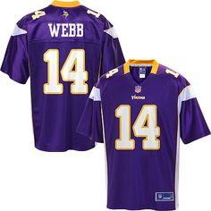 mens pro line minnesota vikings joe webb team color jersey