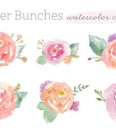 watercolour clip art flowers | angiemakes.com