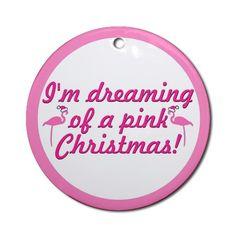 Christmas Flamingo Clip Art   Flamingo Cartoon Christmas Ornaments   Unique Designs - Cafepress