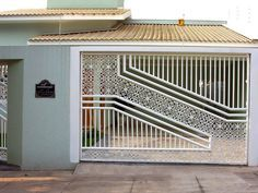 48 Steel Gate Design Idea is Perfect for Your Home - decortip Simple Gate Designs, Modern Main Gate Designs, House Main Gates Design, Modern Fence Design, Front Gate Design, Door Gate Design, House Design, Stainless Steel Gate, Grill Gate