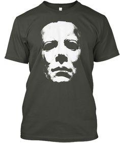 Michael Myerss, Horror Halloween Hoodie Deep Forest T-Shirt Front Michaels Halloween, Halloween 2, Halloween Horror, Michael Myers, Horror Shirts, Horror Masks, Halloween Sweatshirt, T Shirt Costumes, T Shirts