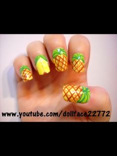 Pineapple Fruit Nails