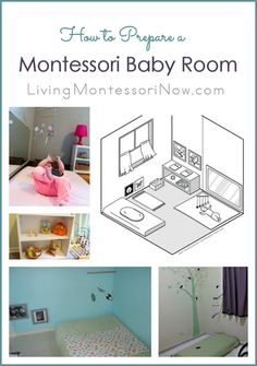Common attributes of a Montessori baby room plus roundup of baby rooms and resource posts; includes information about floor beds for babies.