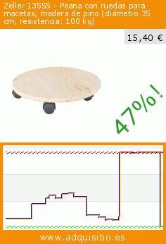 Zeller 13555 - Peana con ruedas para macetas, madera de pino (diámetro 35 cm, resistencia: 100 kg) (Terraza y Jardín). Baja 47%! Precio actual 15,40 €, el precio anterior fue de 29,01 €. https://www.adquisitio.es/zeller/13555-peana-ruedas