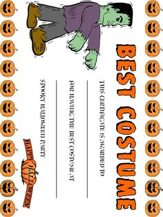 Free printable certificate for your home school or office 5 best images of halloween costume award printable certificates halloween costume certificate template halloween award certificate template and free yelopaper Images