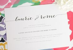 Rustic Wedding Invitations - Flowing Script Wedding Invitations