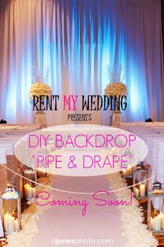COMING SOON... #DIY #Backdrop #PipeandDrape!    #rentmywedding #backdrops #wedding #uplighting #drapes #reception #diywedding #weddingday #weddingfun #weddingdecor #weddingideas #weddinginspiration #weddingplanner #weddingplanning #weddingseason #event #eventplanner #eventplanning #engaged #engagement #ideas #inspiration #lighting